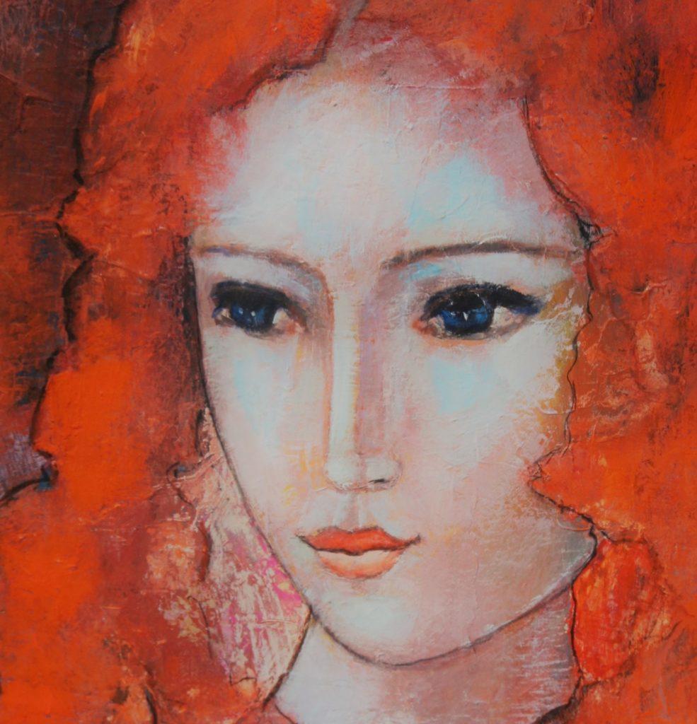 peinture figurative moderne contemporain portrait acrylique artiste