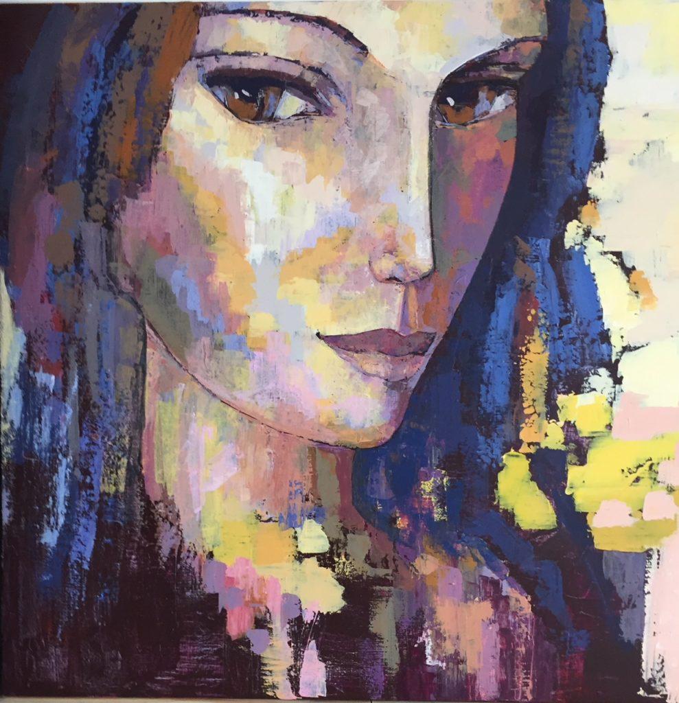 troussier joelle artiste peintre portrait moderne contemporain couteau acrylique connu